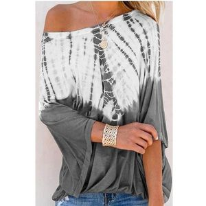 Tops - Relaxed tie dye top
